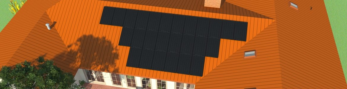 Residential roof mounted PV system
